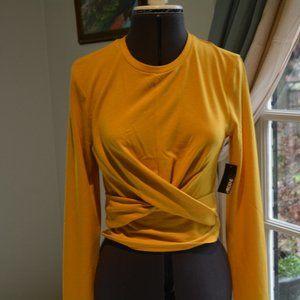 NWT Ardene Mustard Yellow Fun Shirt